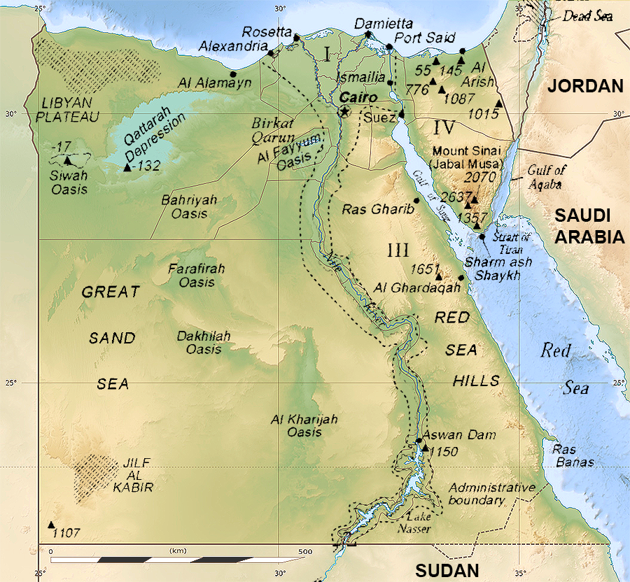 Karten Zu Agypten Landkarte Auf Urlauberinfos Com