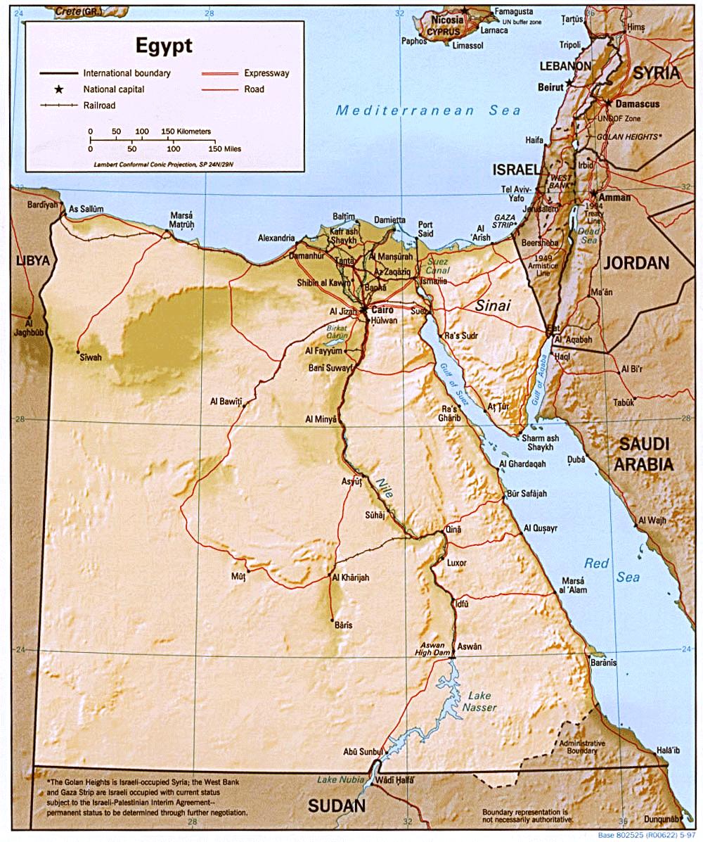Karte Von ägypten.Karten Zu ägypten Landkarte Auf Urlauberinfos Com