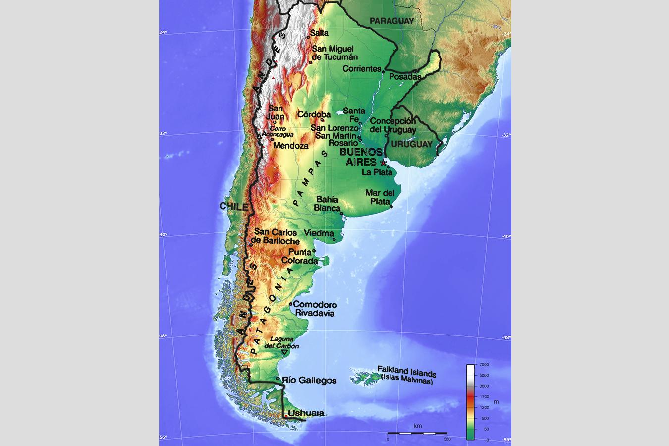 Karten Zu Argentinien Landkarte Auf Urlauberinfos Com